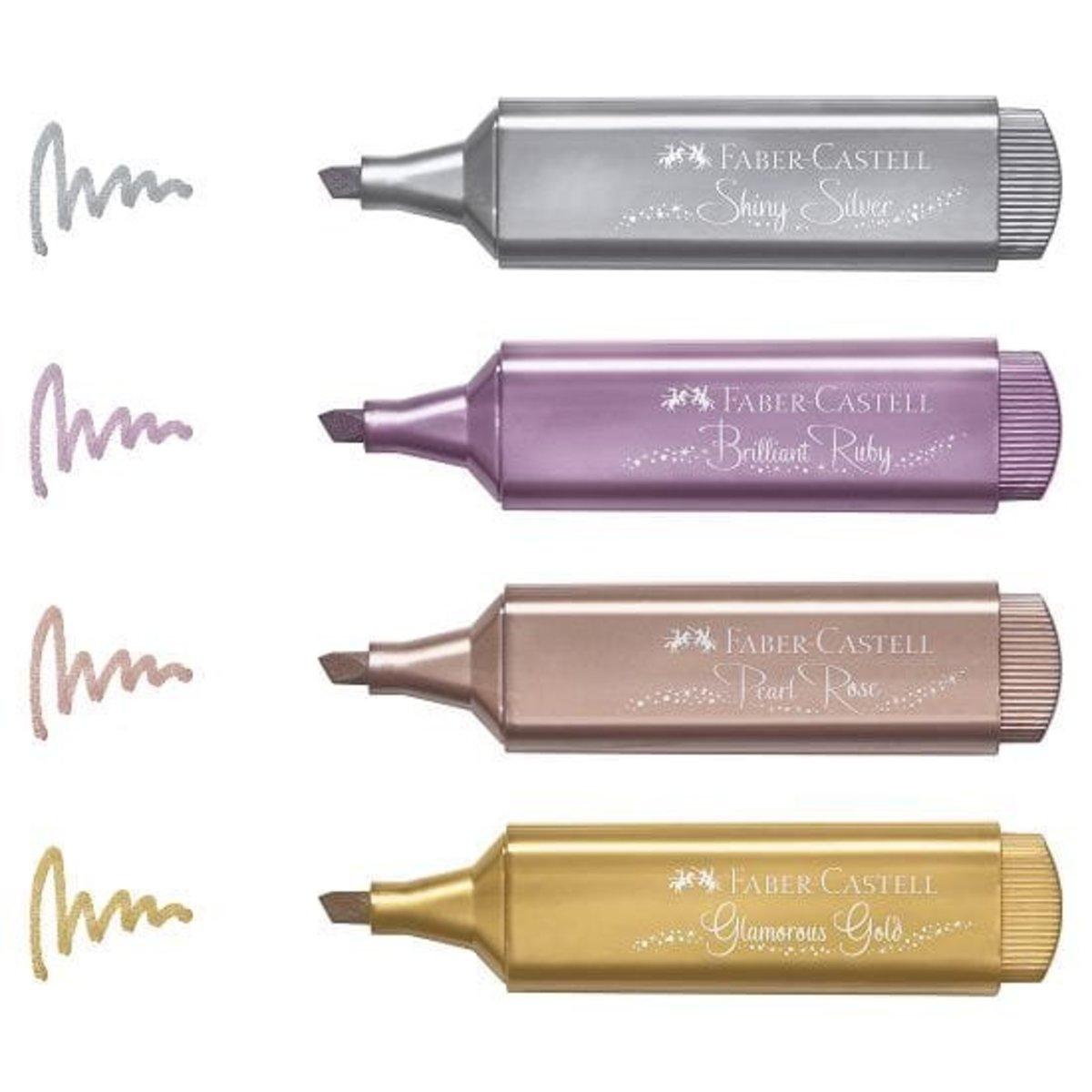 閃亮金屬色螢光筆 (4色)
