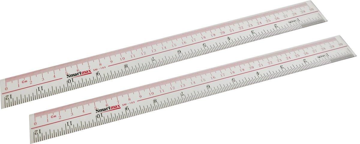 Smartmax 亞加力膠間尺 SM103 (30厘米) X 2