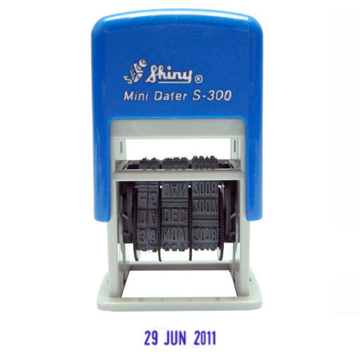 S-300 Self-Inking Dater Stamp 3mm (Blue)