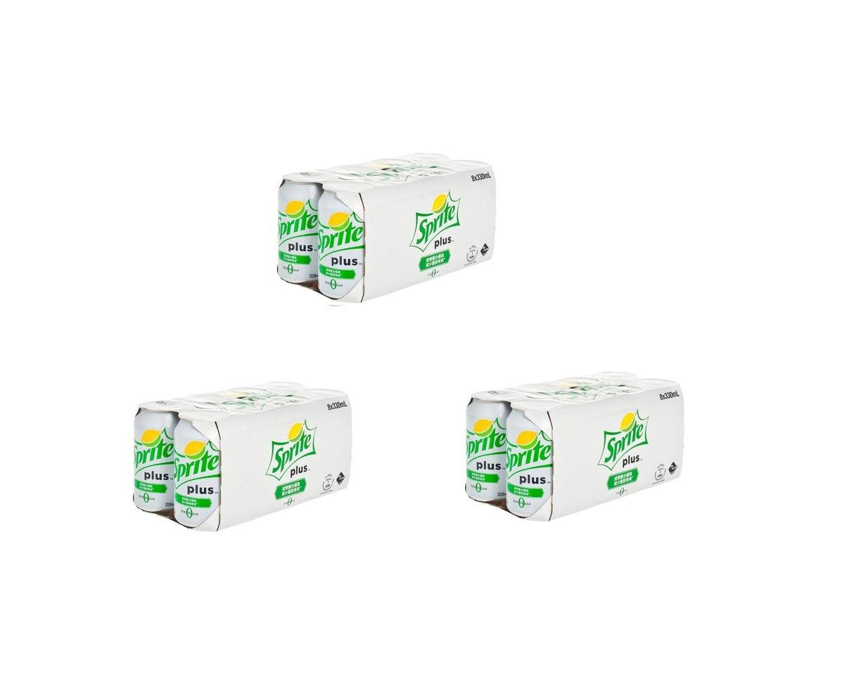 Sprite Plus Lemon-Lime Flavoured Soda with Dietary Fiber (No Sugar) [330ml]
