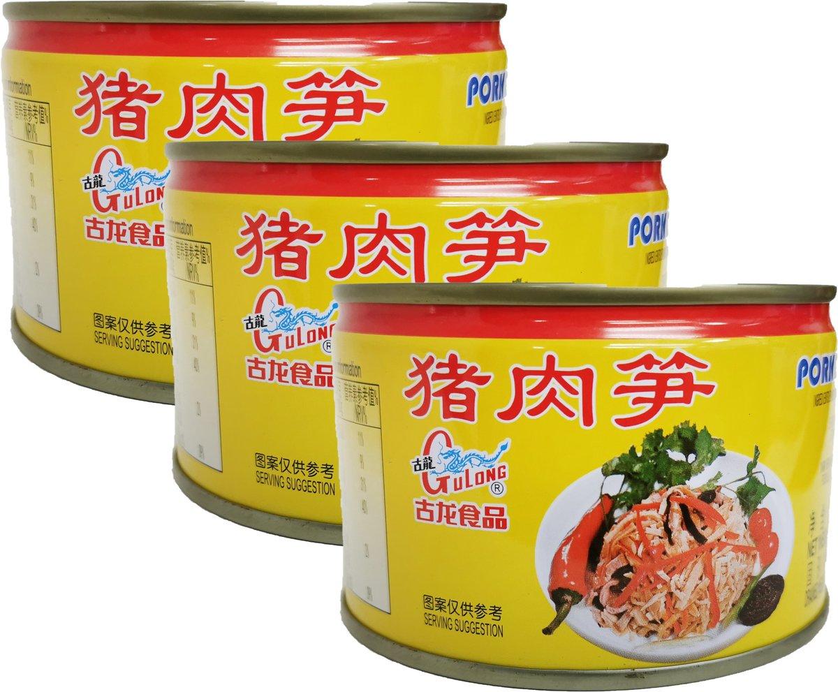 古龍食品 豬肉筍 (198克 X 3)