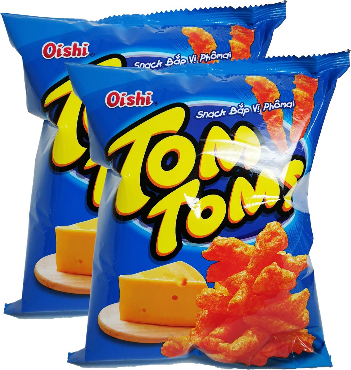 Tom Tom's Corn Snack (Cheese Flavour) (42g X 2)