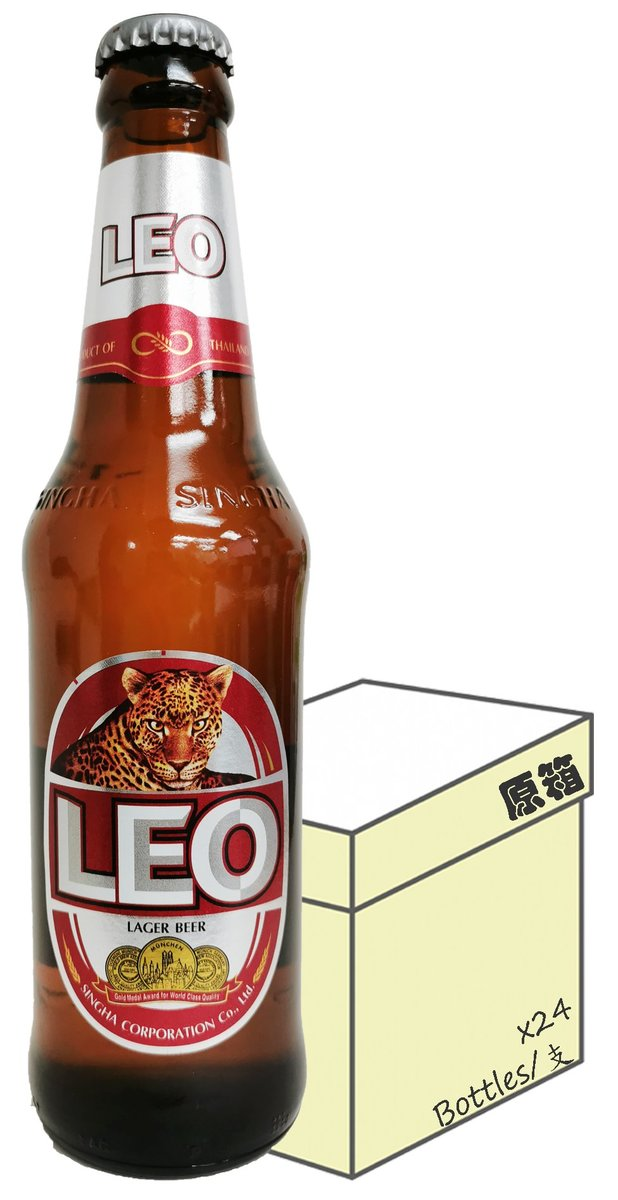 [Full case] Bottled Leo Lager Beer (330ml X 24)