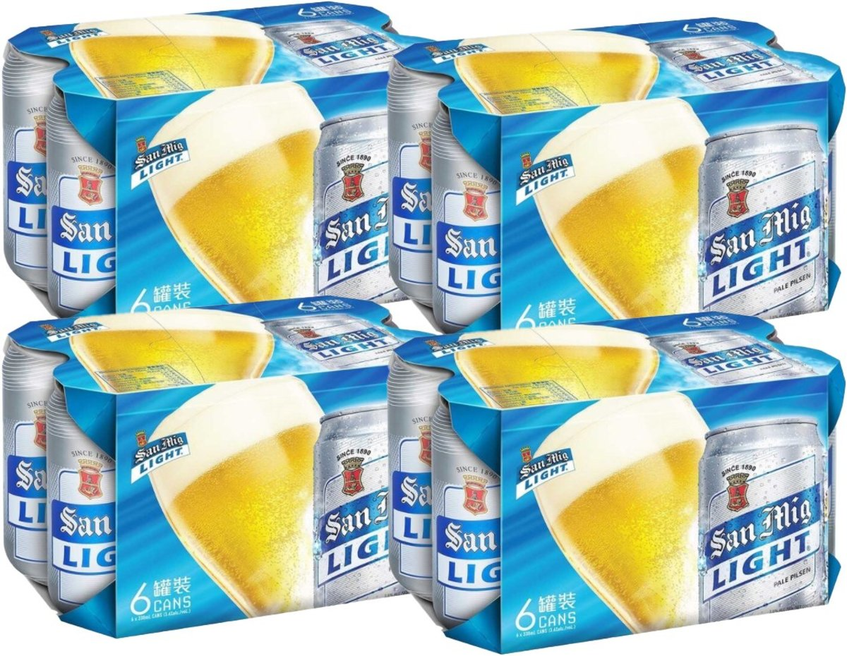 [Full case] San Miguel Canned Light beer (330ml X 24)