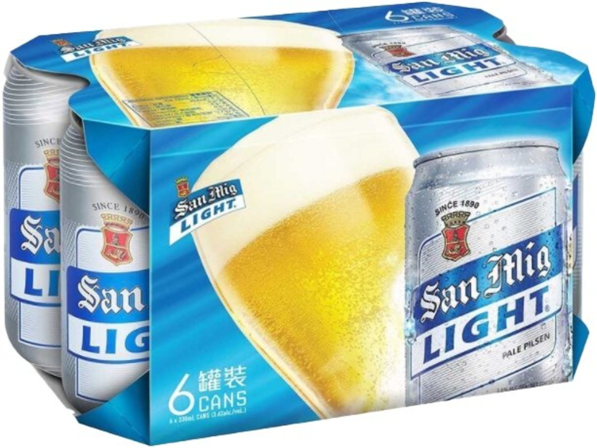 San Miguel Canned Light beer (330ml X 6)