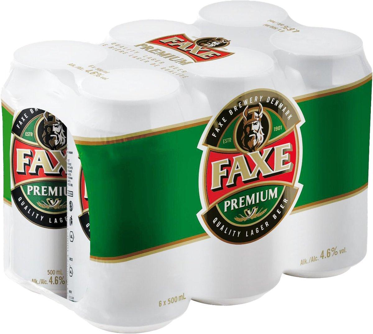 (大罐) FAXE 優質Lager 啤酒 (500毫升 X 6)