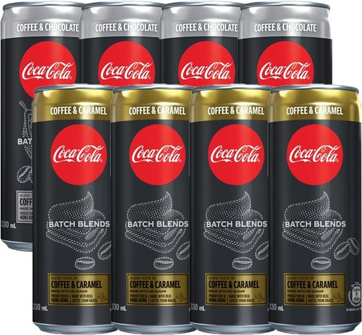 Freebie - Coffee Sparkling Beverage - Caramel (4cans) & Chocolate (4cans) mixed flavoured
