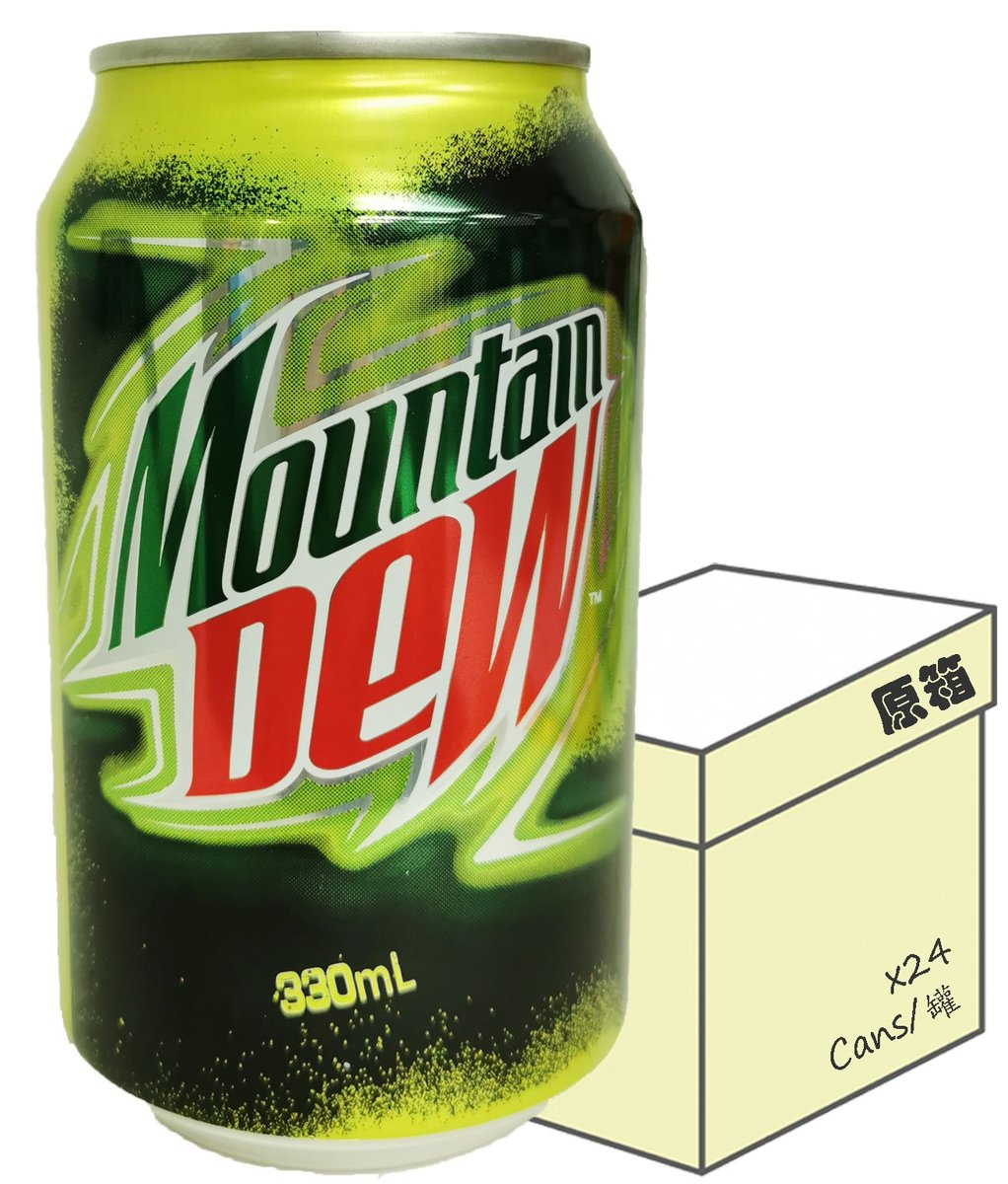 [Full case] Mountain Dew Carbonated Soft Drink  (330ml X 24)