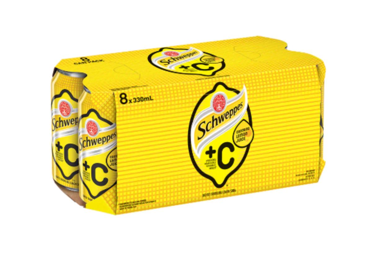 +C Lemon Flavoured Soda [8 cans]