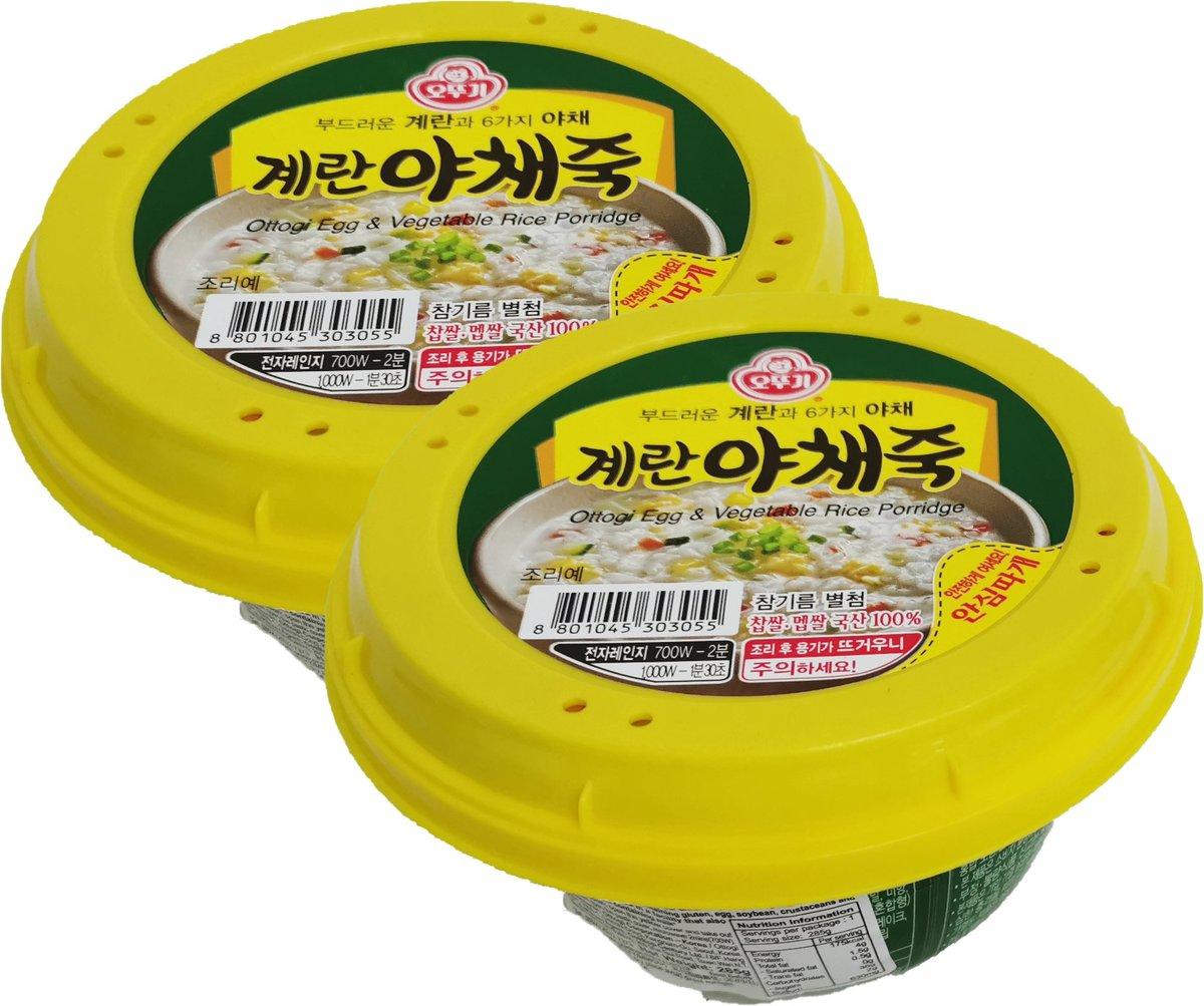 雞蛋素菜粥 (285克 X 2)