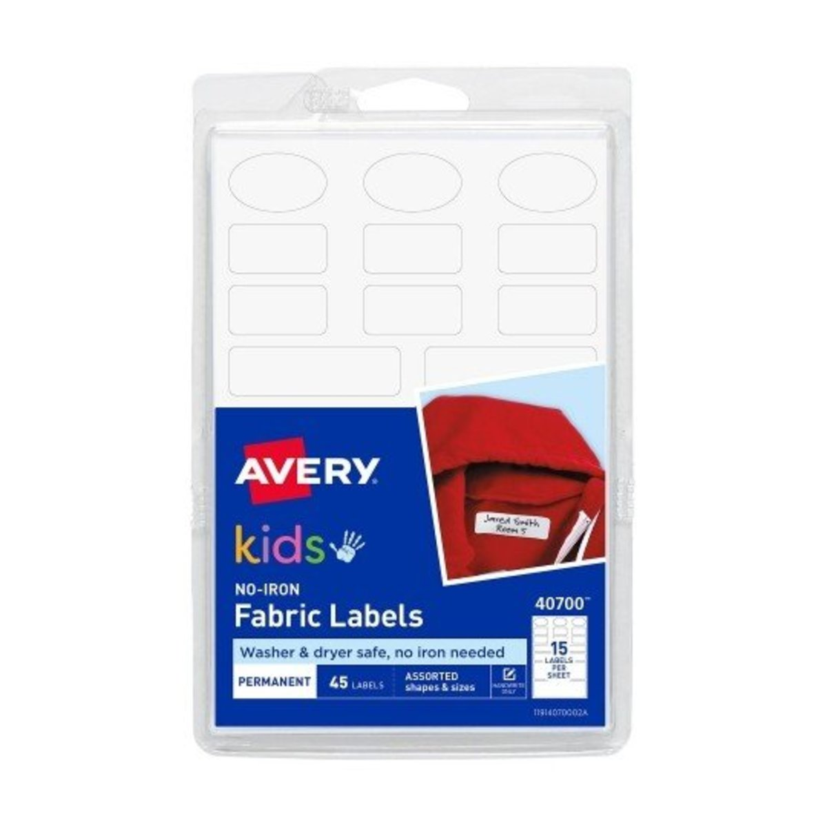 Avery - No-Iron Fabric Labels 40700