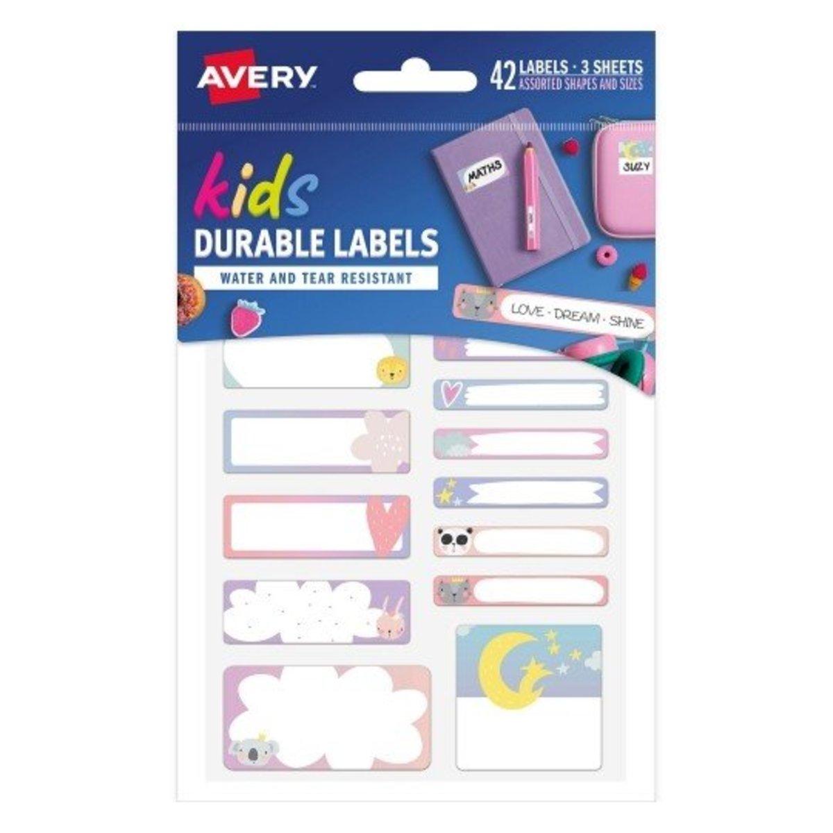 Avery - Love Dream Shine School Labels 41419