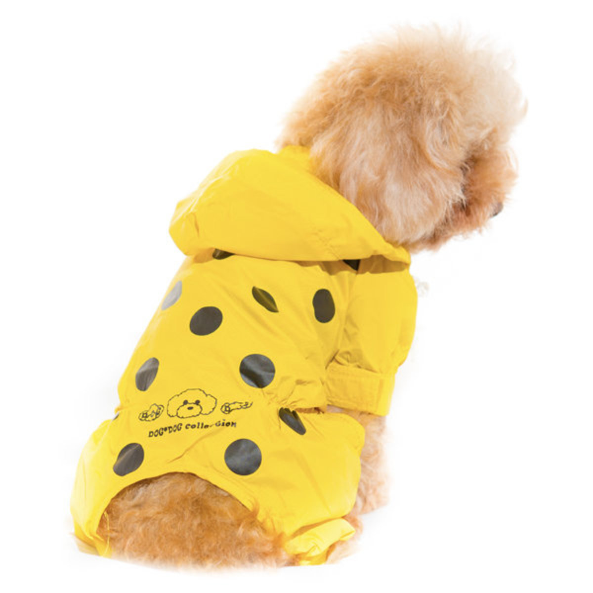 Patch Spot Print  Pet Raincoat