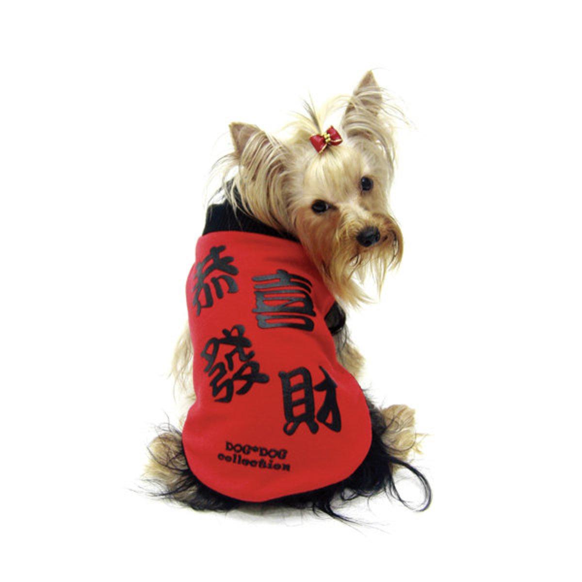 """Kung Hei Fat Choy"" Reversible T-shirt Dog Clothes"