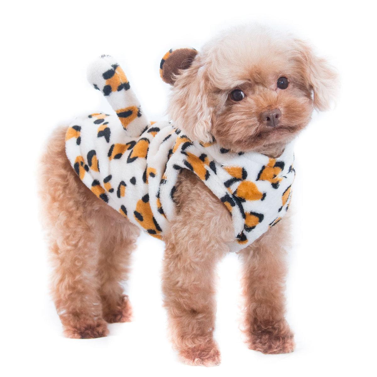 小花豹造型衫  寵物衣服   貓狗冬裝