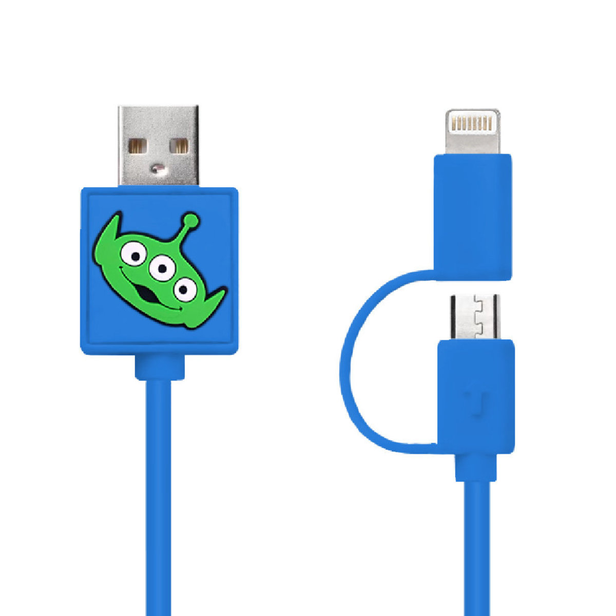 Disney Alien 2-in-1 Charging Cable (Micro USB + Lightning)