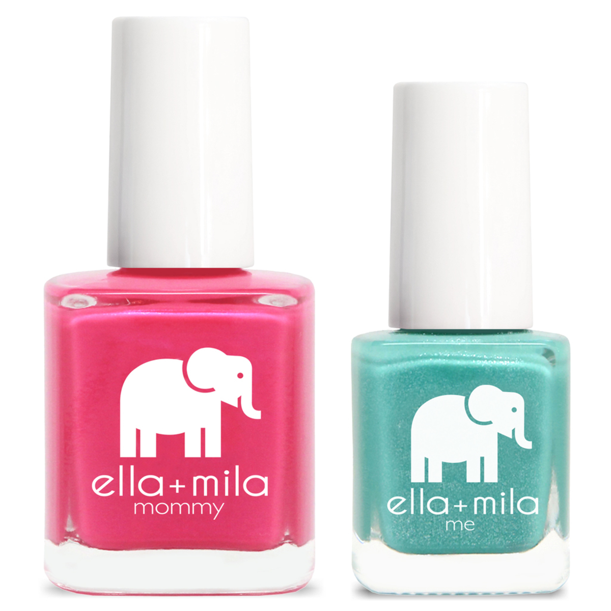 Mommy & Me Nail Polish Set - Cosmo Pink + Glitter Me Green