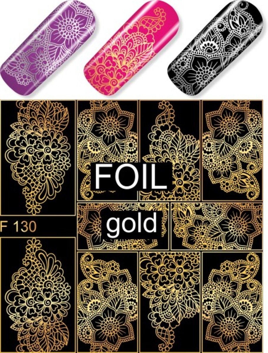 Water Decal F130 (Gold)