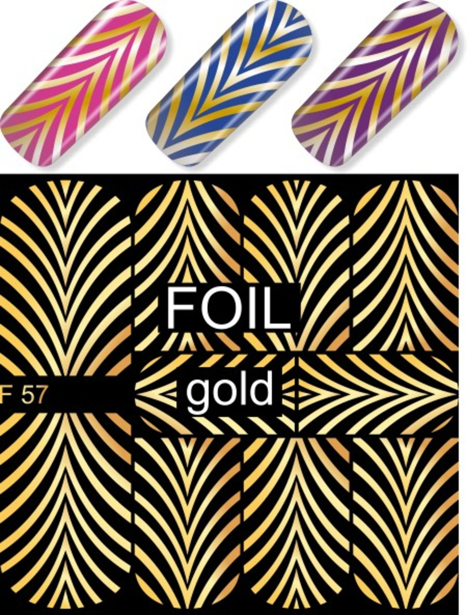 Water Decal F57 (Gold)