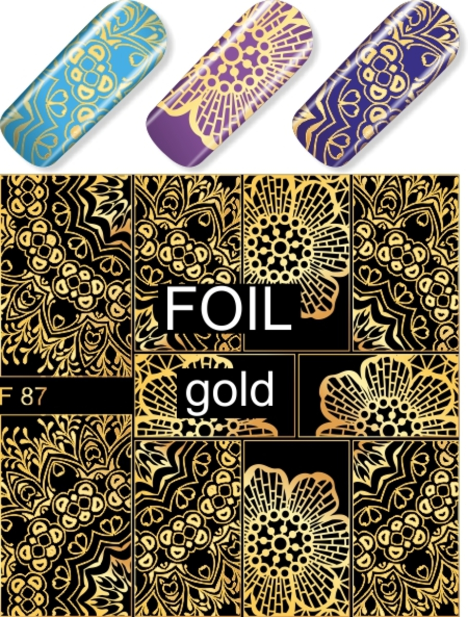 Water Decal F87 (Gold)