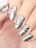 鐳射指甲貼 #18 銀色碎玻璃