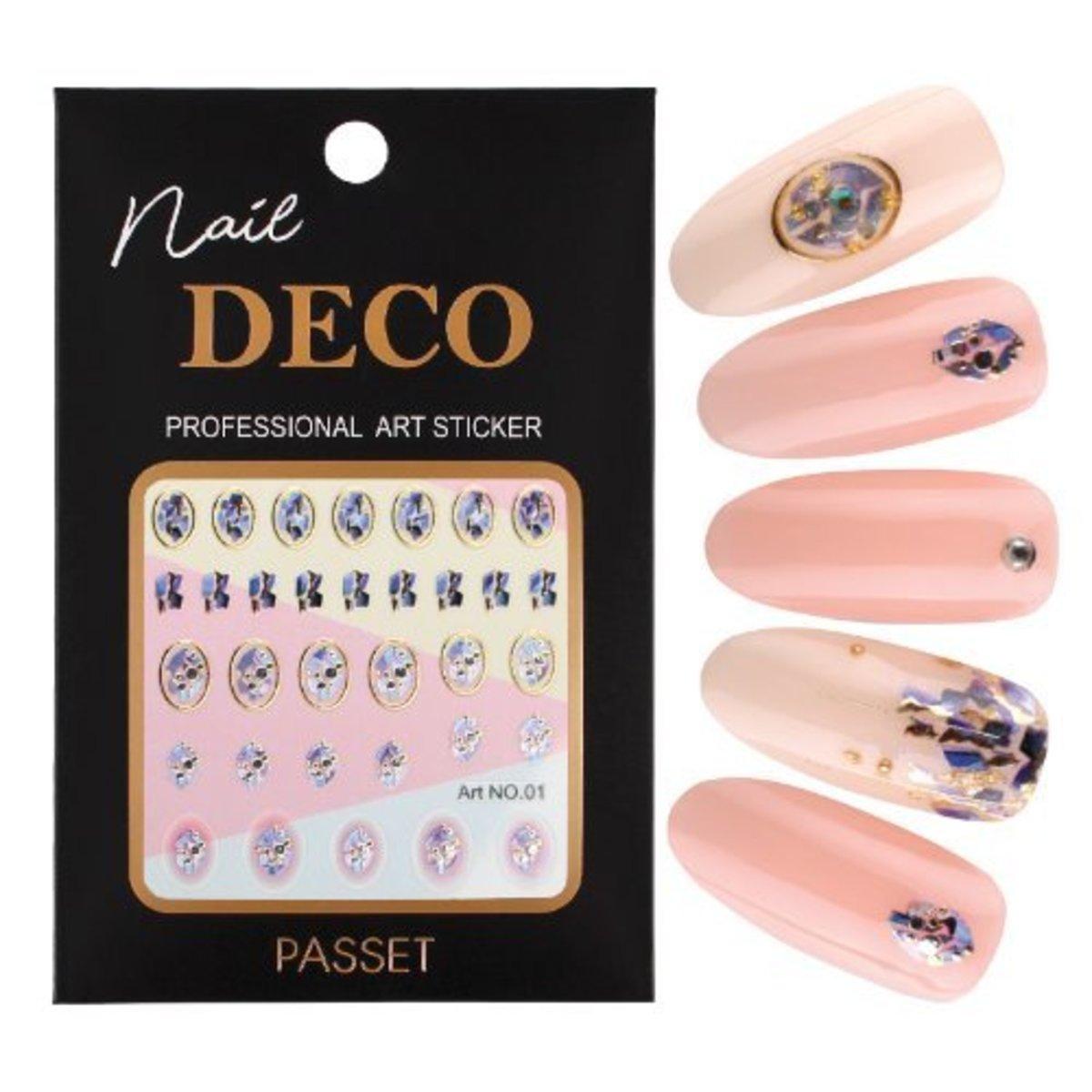 Passet Nail Deco Art Sticker No. 01