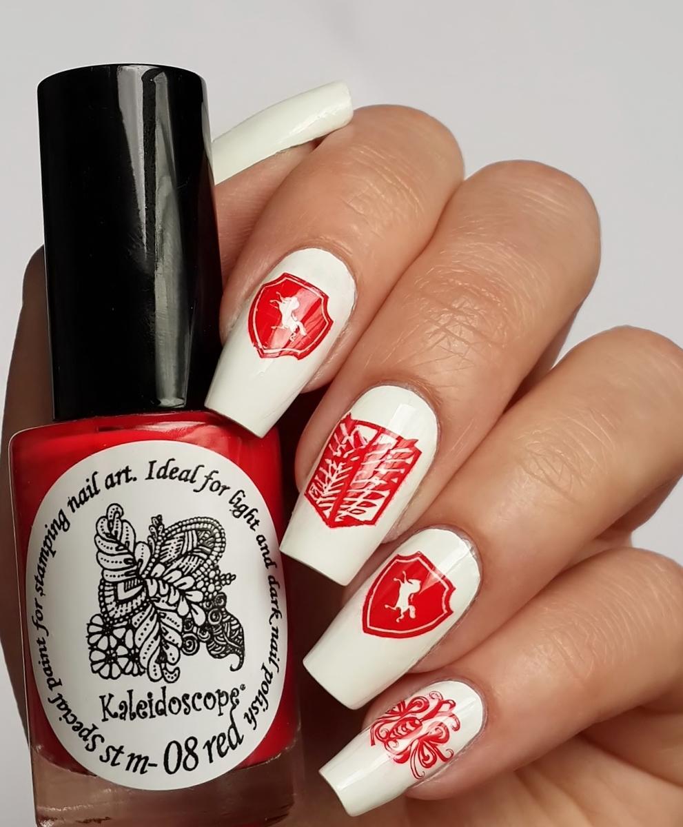 Kaleidoscope Stamping Polish st-08 Red