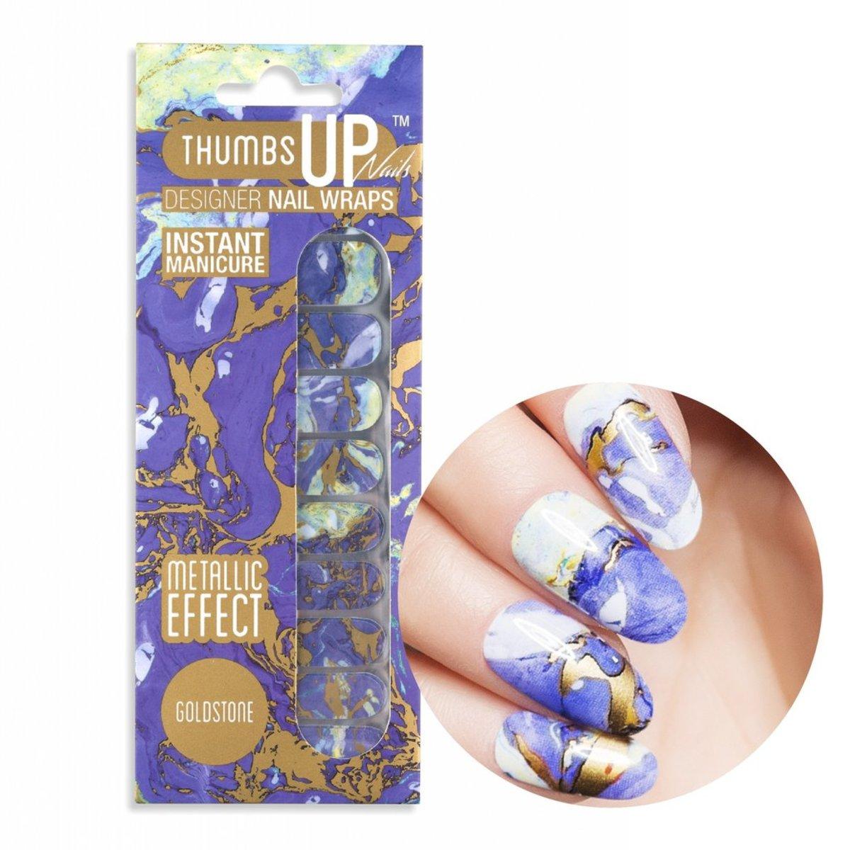 Thumbsup Nails Designer Nail Wraps Goldstone Hktvmall Online