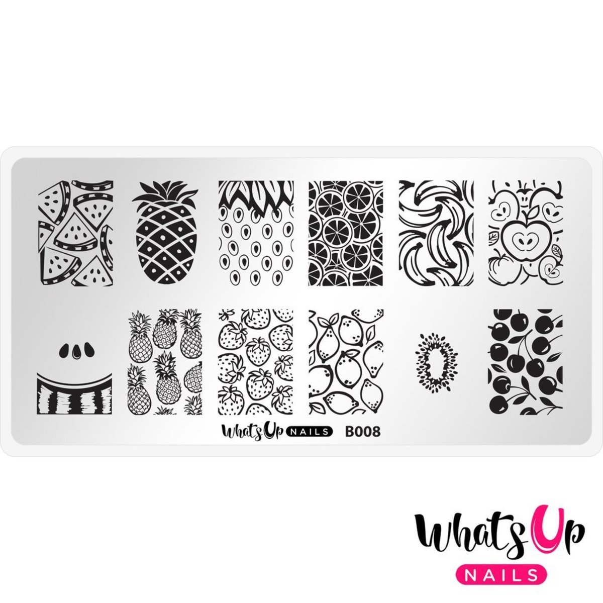 B008 Summer Seeds Stamping Plate