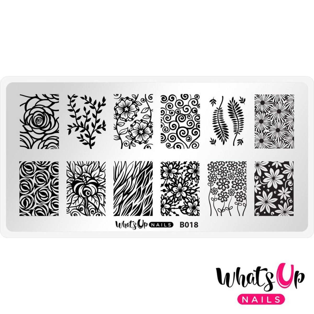 B018 Fields of Flowers Stamping Plate