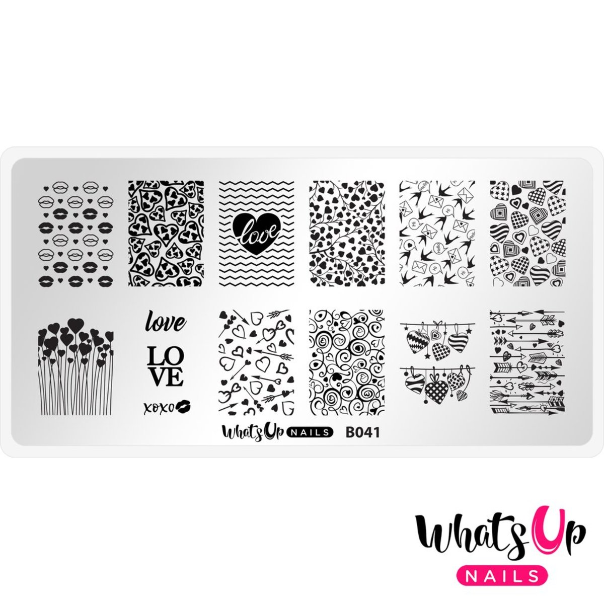 B041 Season of Love Stamping Plate