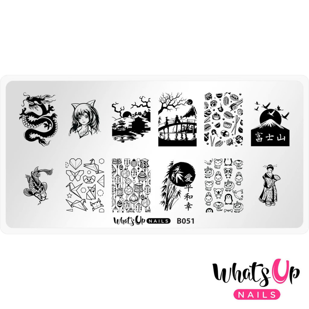B051 I Just Want Sushi Stamping Plate