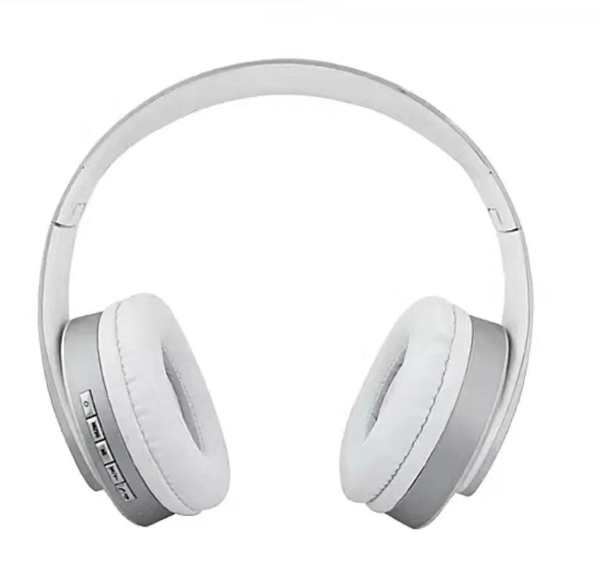 Quality Super Bass True Stereo Wireless Bluetooth Earphone Headphone with Mic - Silver