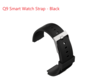 Q9 Smart Watch Bracelet Silcon Band Strap - Black