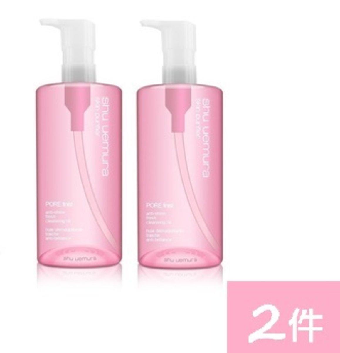 (2pcs) Skin Purifier POREfinist² Sakura Refreshing Cleansing Oil 450ml x 2pcs (4935421652193) (Parallel Import goods)