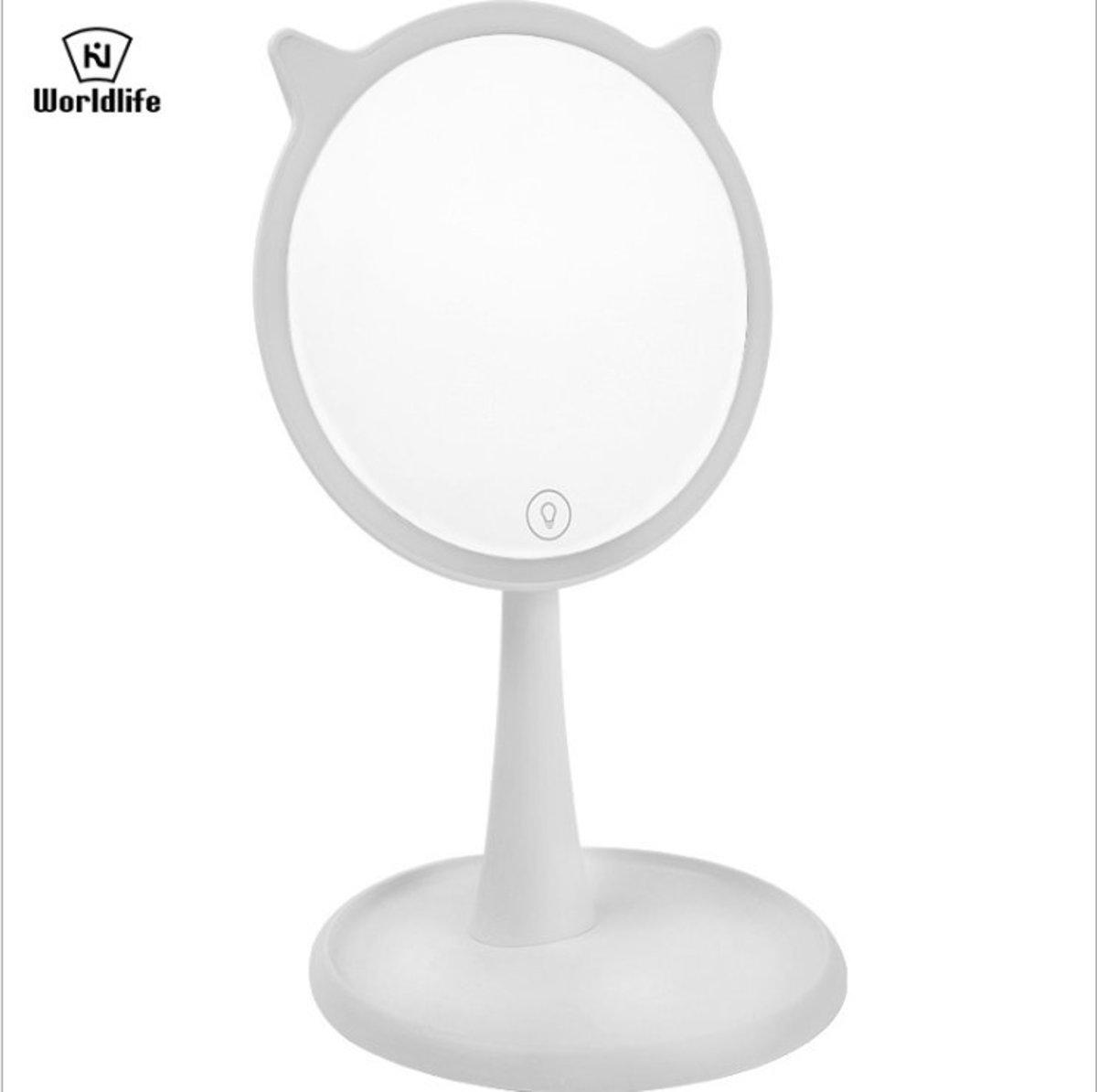 可愛喵星人LED化妝鏡
