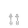 Paul Vallette Jewellery Fashion Crystal Diamond Freshwater Pearl Earrings – PVE3643-S