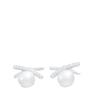 寶樂威 女士鑲晶鑽淡水珍珠耳環PVKME1308-S