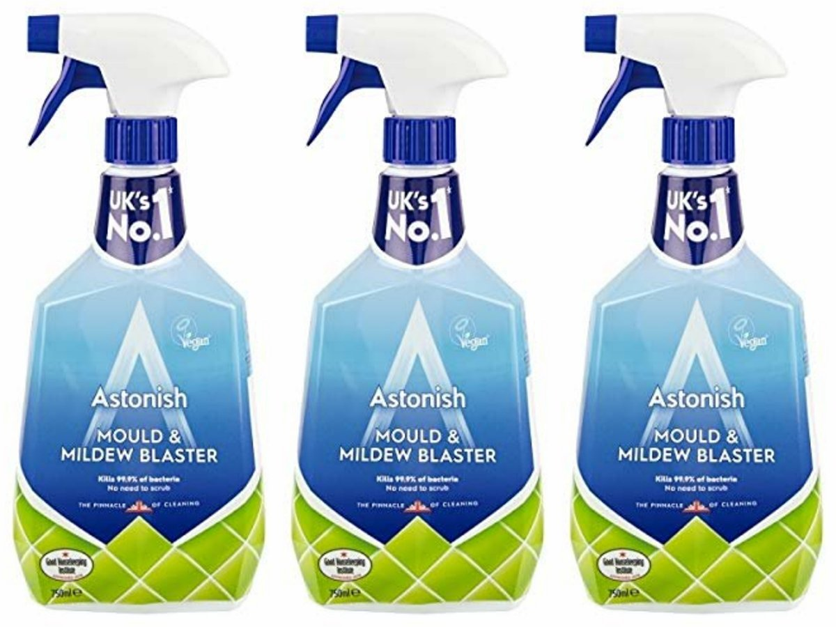 DIRECT FROM UK-99.9% ANTI-BACTERIA .MOULD & MILDEW BLASTER TRIGGER 3 PCS PACK