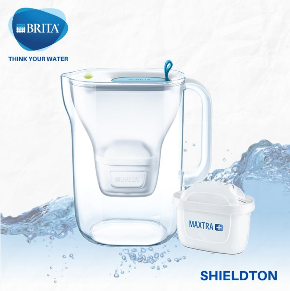 Style 2.4L LED water filter jug (blue)