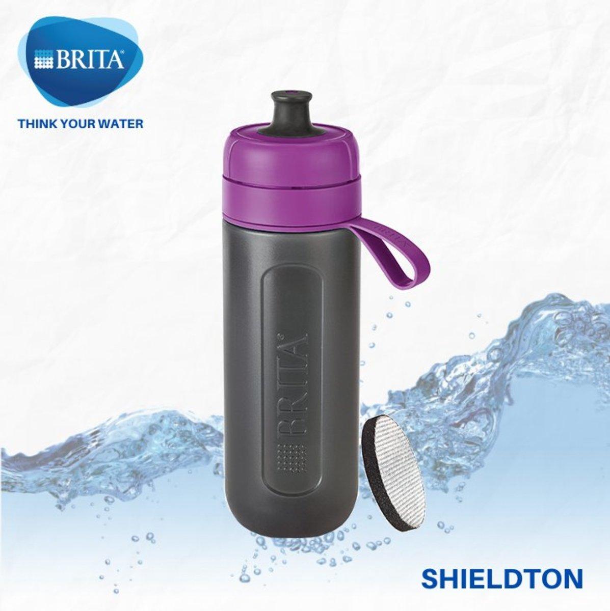 Active 運動濾水瓶 0.6L 配 1件濾片 (紫色)