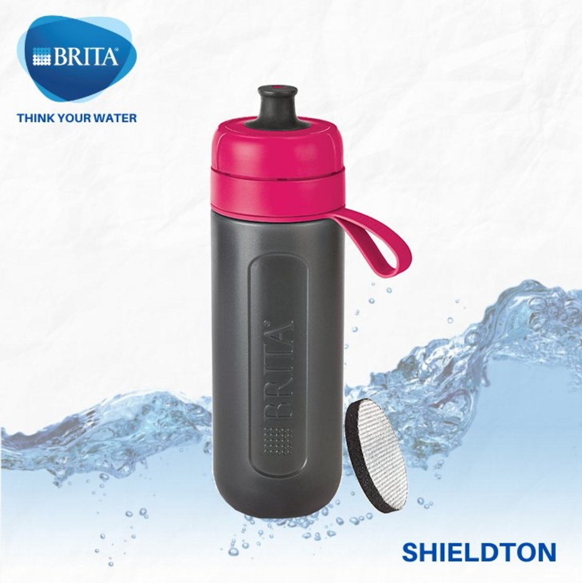 Active 0.6L bottle w/1 pc Micro Disc (pink)