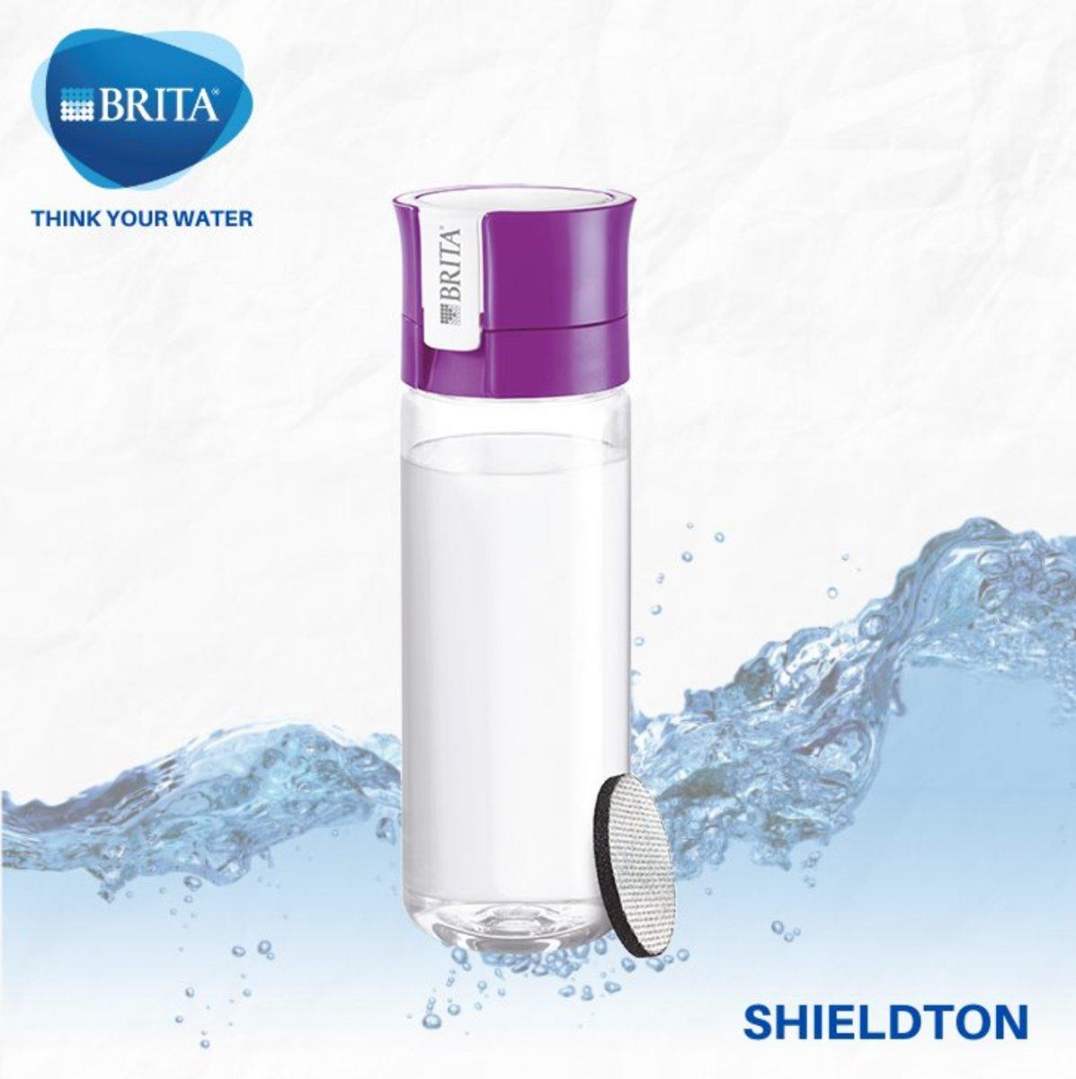 Vital 隨身濾水瓶 0.6L 配 1件濾片 (紫色)