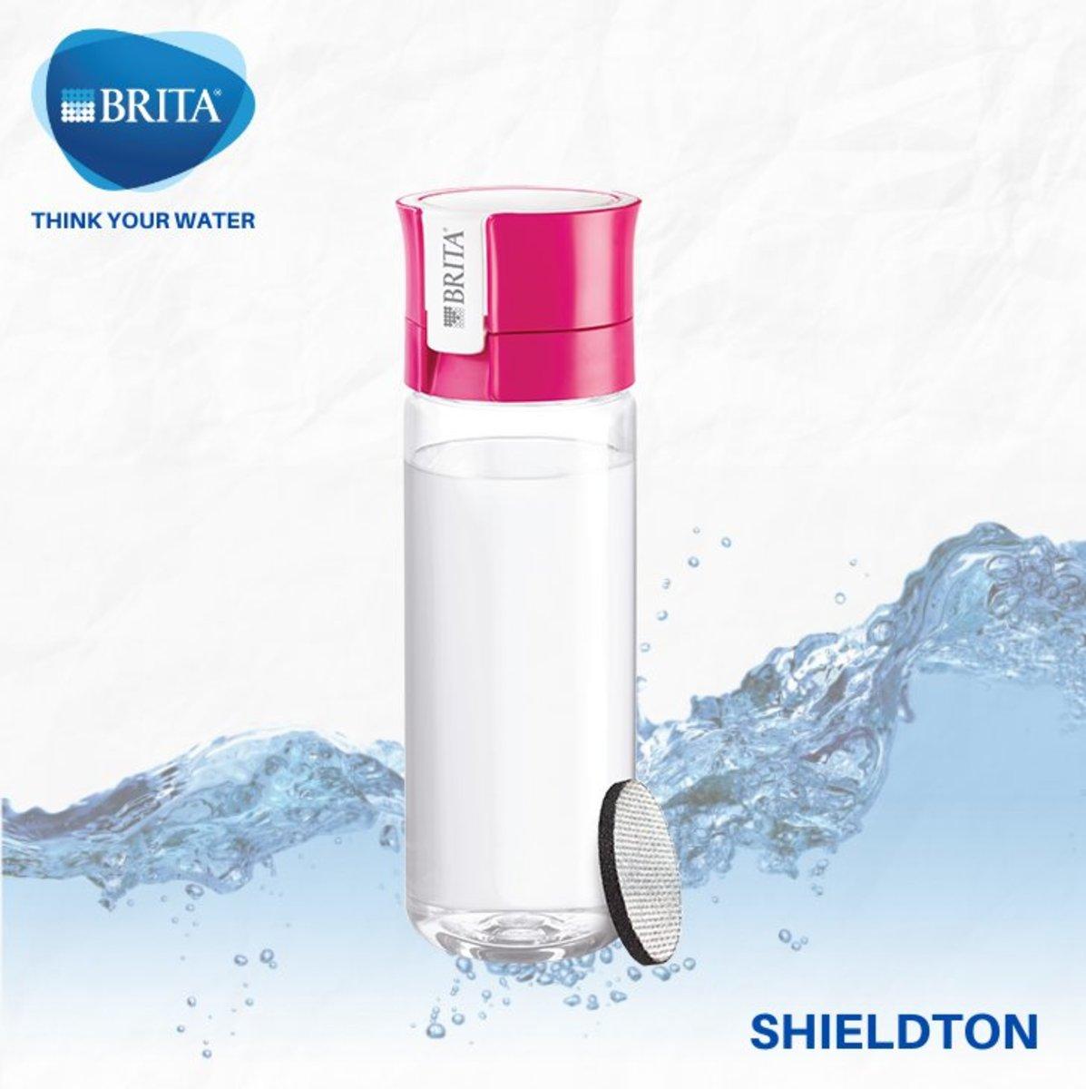 Vital 隨身濾水瓶 0.6L 配 1件濾片 (粉紅色)