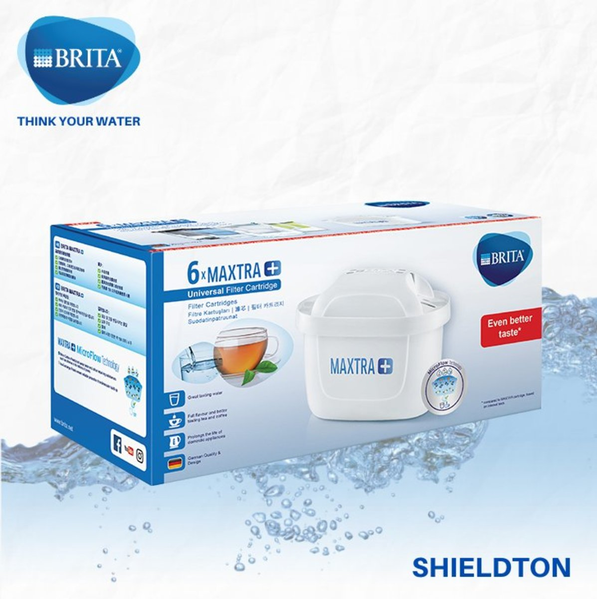 MAXTRA+ Universal 全效濾芯 (6件裝) - 白色