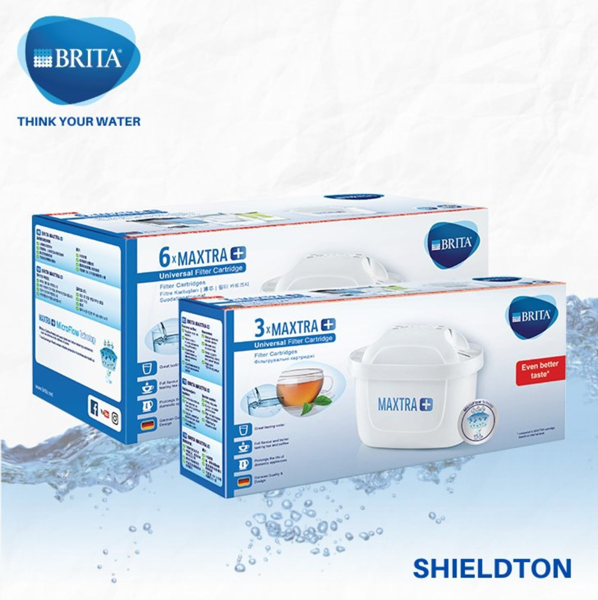 MAXTRA+ WATER FILTER (PACK 9) - WHITE
