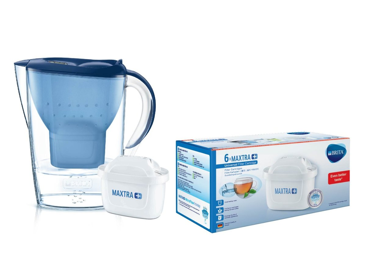 3.5L WATER JUG WITH PACK 6 FILTER - BLUE