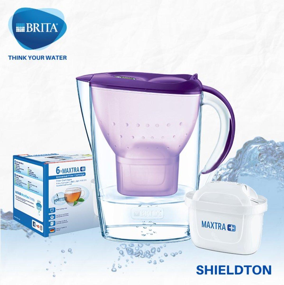 Marella 2.4L jug w/1 + 6 filters (purple)