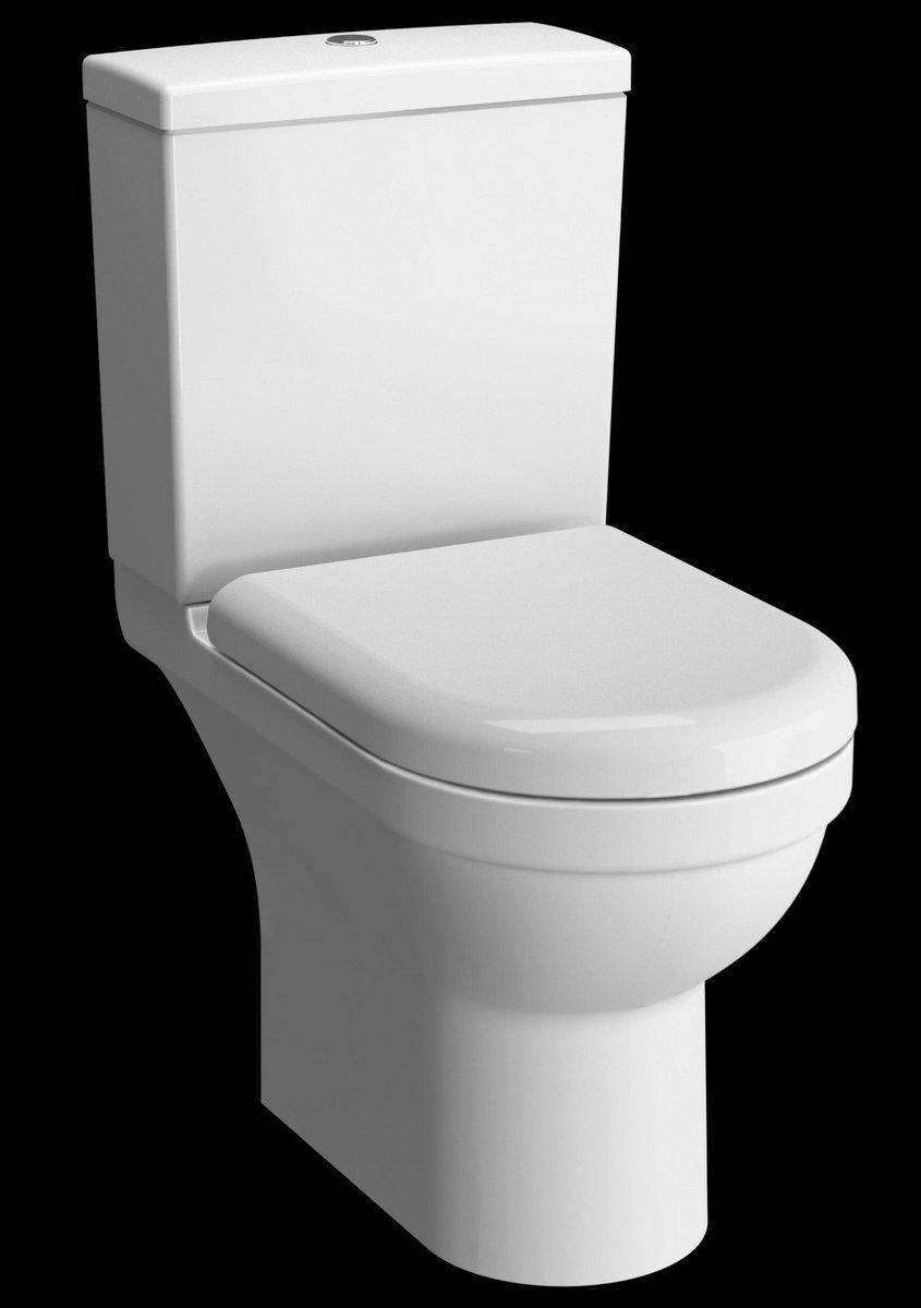 S50 RIM-EX BATHROOM TOILET SEAT WC (OPEN BACK) - WHITEDIMENSION : 655 X 385 X 825 MM