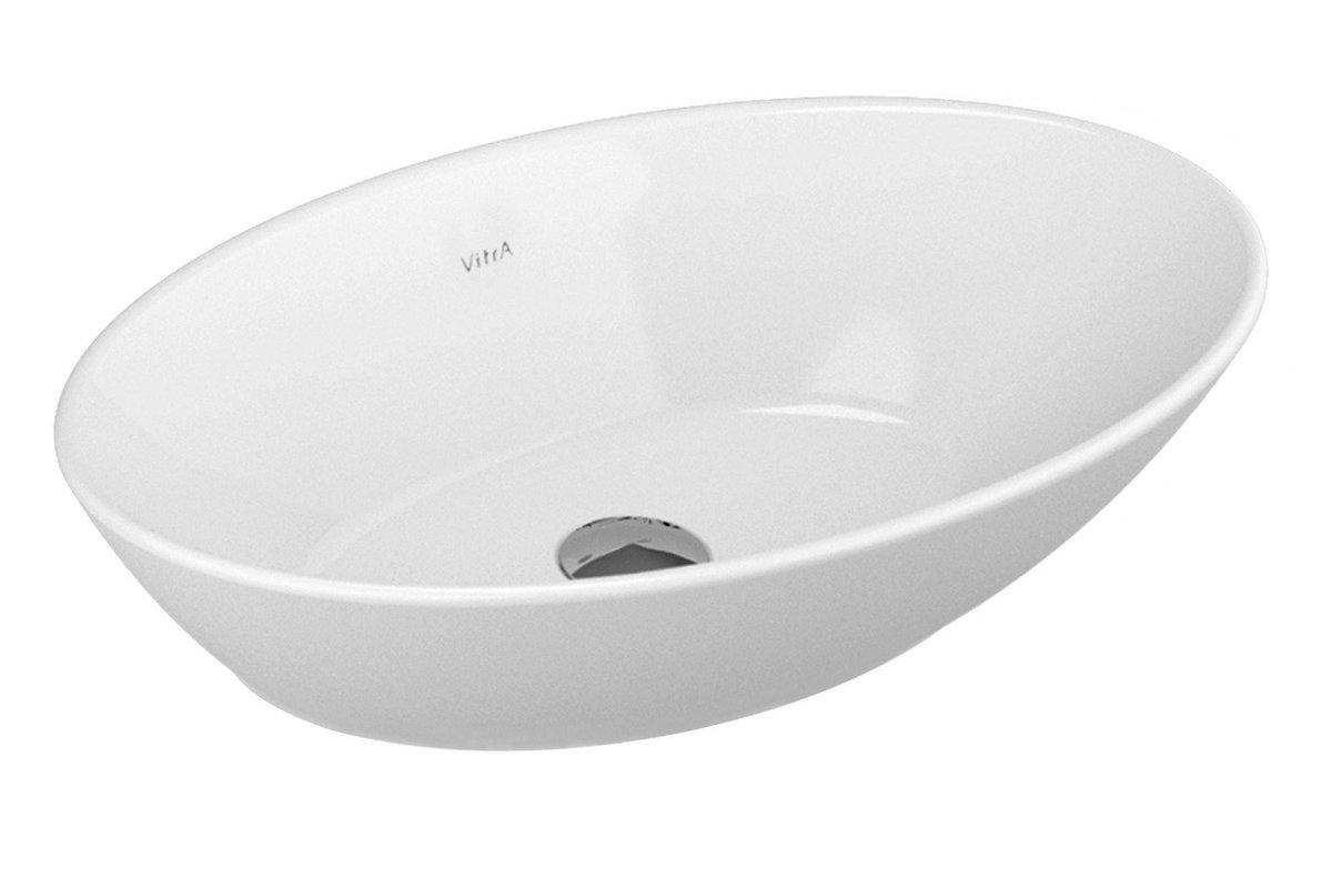 GEO OVAL BATHROOM WASHBASIN - WHITEDIMENSION : 600 X 380 X 140 MM
